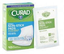 Nonstick Pad, Bulk, Sterile, Perforated Mylar Film Bonded to a Cotton/Polyester Pad, PK 10