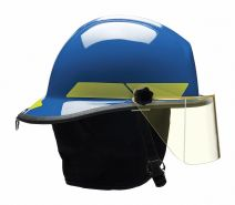 Blue Fire Helmet, Shell Material: Thermoplastic, 6-Point Sure-Lock(R) Ratchet Suspension, Fits Hat S