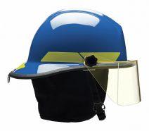 Blue Fire Helmet, Shell Material: Fiberglass, 6-Point Sure-Lock(R) Ratchet Suspension, Fits Hat Size